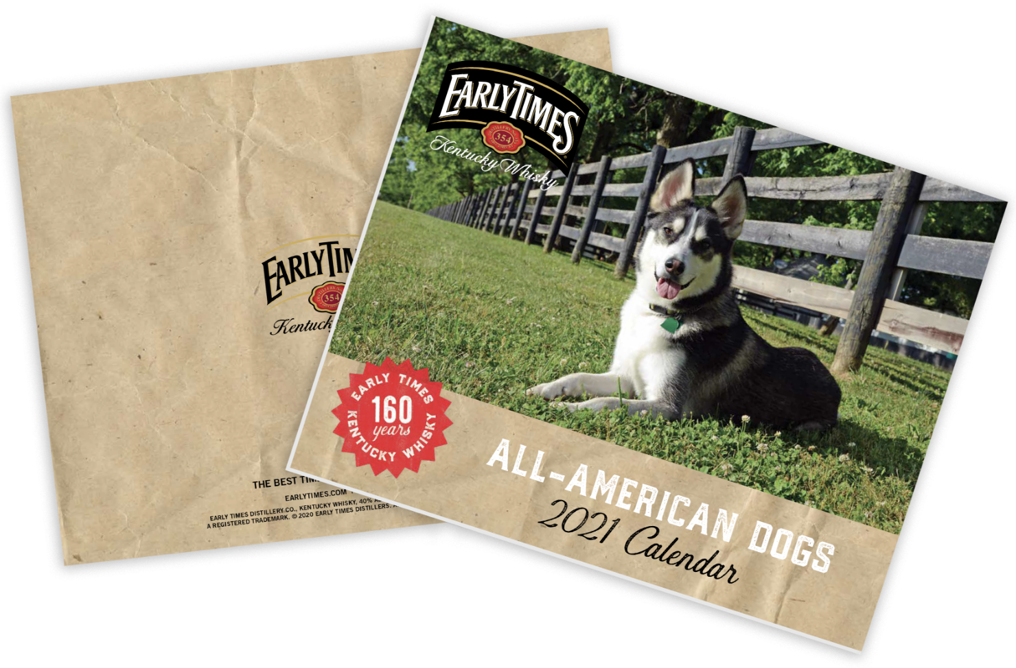 Our All American Dogs calendar celebrates American whiskey and our All American dogs contest winners.